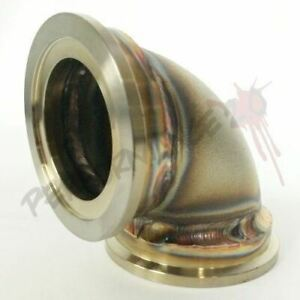 44mm Wastegate Elbow Vband Sch40 Low Profile Stainless Flange Tial Mv R Mvr