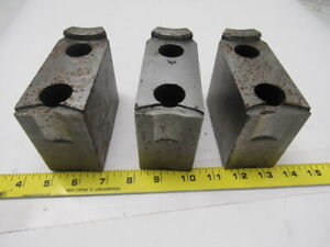 Cj 77 Lathe Chuck Top Jaws 4 3 4 X 3 3 8 X 2 Lot Of 3