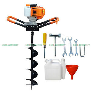 2 2hp 8 Drill Bit Earth Auger Driller Gas Powered Soil Digger Planting Trees