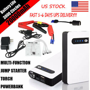 Portable 20000mah Car Jump Starter Power Bank Vehicle Battery Booster Charger Us