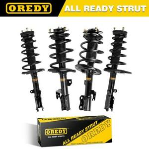 4x Quick Complete Struts Shocks Spring Coils W Mounts For 07 11 Toyota Camry