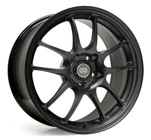 18x9 5 Enkei Pf01 5x114 3 35 Black Wheel 1