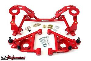 Umi Performance 82 92 Camaro K member Control Arms For Factory Springs