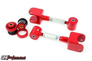 Umi 68 72 Gm A Body Tubular Adjustable Upper Control Arms Poly Bushings Red