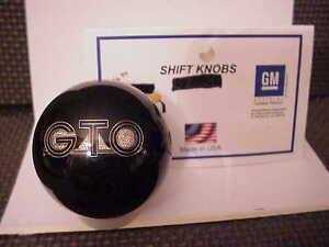 Pontiac Gto Gm Licensed Black Custom Shift Knob