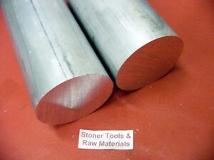 2 Pieces 2 Aluminum 6061 T6 Round Rod 10 Long Solid Lathe Bar Stock 2 00 Od