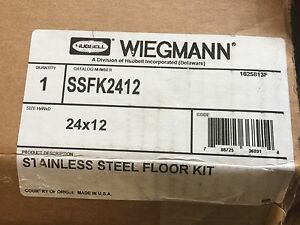 Hubbell wiegmann Floor Stand Kit 24 Inch Height 304 Stainless Steel