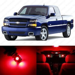 13 X Red Led Interior Light Package For 1999 2006 Chevy Silverado Pry Tool