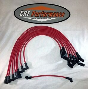 Ford Small Block 289 302 351w Hei Red 8mm Silicone Spark Plug Wires Made Usa