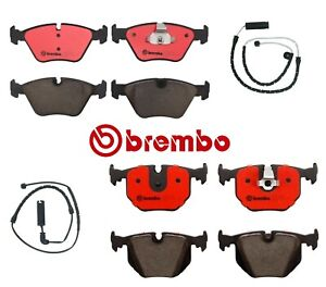 For Bmw X3 Brake Pads Wear Sensors Front Rear Brembo New