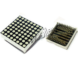 100 Pc Led Dot Matrix Display 8x8 3mm Red Common Anode 16p