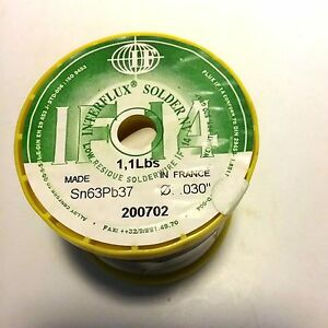 Interflux Low Residue Solder 030 Dia If 14 1 1lb Spool Sn63 pb37 No Clean
