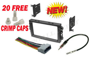 05 07 Complete Stereo Installation Dash Kit Harness Antenna Jeep Grand Cherokee