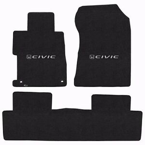 Lloyd Mats Velourtex 3 Pc Floor Mat Set Ebony 2013 Honda Civic Sedan Hybrid Si