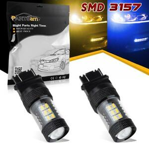 2pcs 3157 4114 Switchback Blue Amber Led Front Turn Signal Light Off Road Use