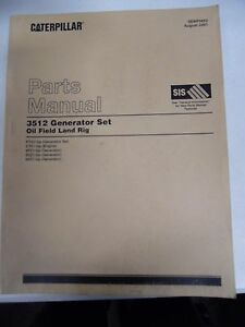 Caterpillar 3512 Generator Set Oil Field Land Rig Parts Manual