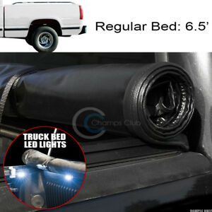 Roll Up Soft Tonneau Cover 16x Led Lights 88 00 Chevy C K C10 Silverado 6 5 Bed