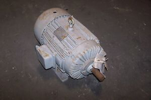New Delco 10 Hp Ac Electric Motor 460 Vac 1765 Rpm 256u Frame 3 Phase Eg3154