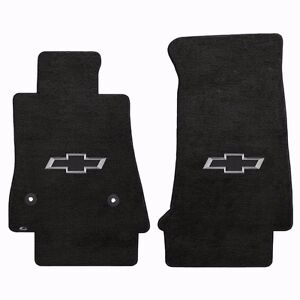 Lloyd Mat Velourtex 2 Pc Front Floor Mat Set Ebony 2016 2018 Camaro Chevy Bowtie