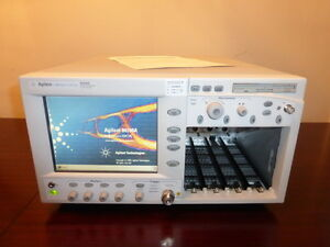 Agilent 86100a Infiniium Dca Wide Bandwidth Oscilloscope Mainframe W Option 001