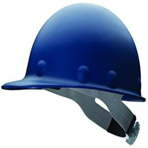 Fibre metal P2a Hard Hat With 8 point Ratchet Suspension Injection Molded Blue