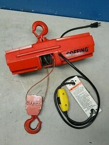 Coffing Electric Wire Rope Hoist 500 Lb Capacity 10 Ft Lift 07612w Parts repair