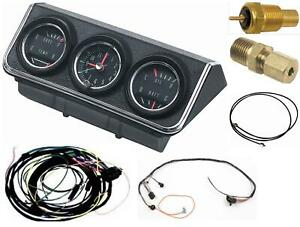 Oer 1967 Camaro Console Gauges W Wiring Install Kit Fs At