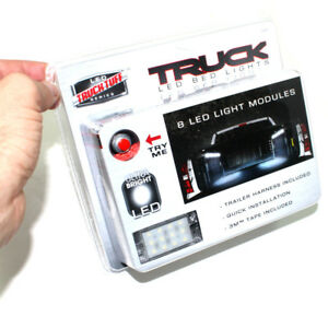 Universal 8 Piece Truck Bed Ultra Bright Led White Lights Kit