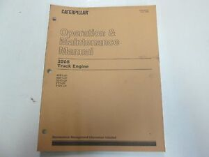 Caterpillar 3208 Truck Engine Operation Maintenance Manual Stained Factory Oem