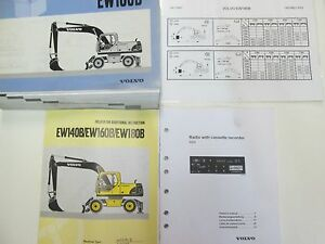 Volvo Construction Equipment Ew180b Parts Catalog Manual Set Worn Factory Oem