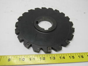 Iscar Sdn D8 0 0 375 16 ln12 8 Slot Mill Cutter 2 Arbor 20 Indexable Inserts