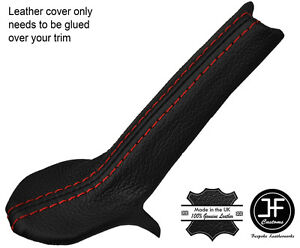 Red Stitching E Brake Trim Leather Cover For Porsche 986 Boxster Carrera 996