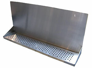 Draft Beer Tower Wall Mt Drip Tray 36 L W S s Grill Drain Dtwm36ss