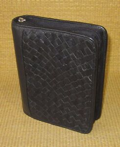 Compact 1 25 Rings Black Unstructured Leather Franklin Covey Planner binder