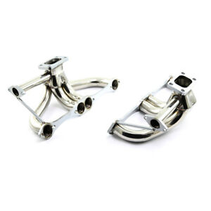 Chevy Sbc 350 1982 92 Camaro Firebird F Body Dual Turbo Stainless Steel Headers