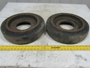 16 X 4 X 11 1 4 Forklift Tire Wheel 7 1 2 Center Hole 5 Bolt Lot Of 2