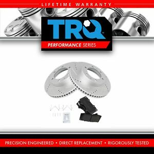 Nakamoto Front Metallic Brake Pads Performance Drilled Slotted Coated Rotors