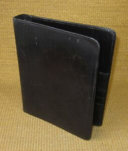 Classic 75 Rings Black Unstructured Leather Franklin Planner Planner binder