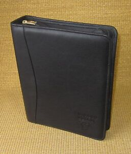 Classic 1 5 Rings Black Leather Franklin Covey Planner binder Chicago Bulls