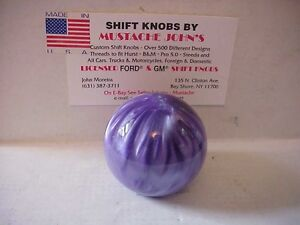 Purple Solid Pearl Shift Knob Custom Made