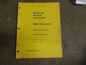 New Holland 78 Baler Parts Manual