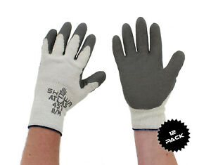 Showa Atlas 451 Gray Thermal Work Gloves Medium 12 pack