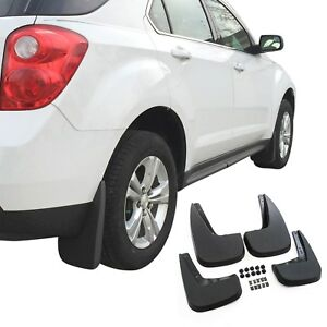 Fits Chevy Equinox Mud Flaps 2010 2017 Guards Splash 4 Piece Front Rear Full Set