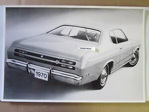 1970 Plymouth Duster 2 Door Hardtop Rear View 12 X 18 Black White Picture