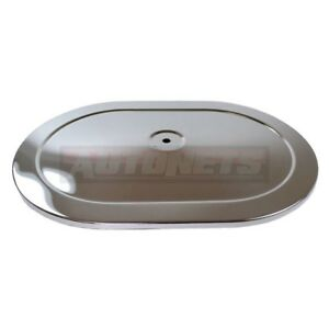 12 Oval Air Cleaner Lid Top Only Chromed Muscle Car Chevy Ford Mopar Sbc Bbc