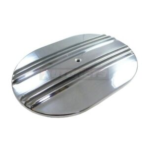 12 Oval Nostalgic Half Fin Moon Polish Aluminum Air Cleaner Lid Top Hot Rat Rod