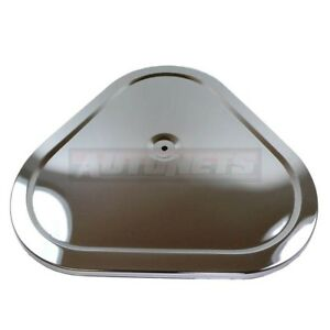 14 Triangular Chromed Steel Muscle Car Style Air Cleaner Lid Top Only