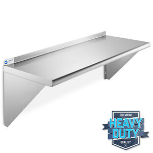 Stainless Steel Commercial Kitchen Wall Shelf Restaurant Shelving 14 X 36