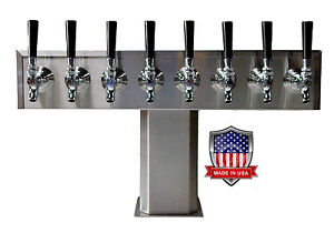 Stainless Steel Draft Beer Tower Made In Usa 8 Faucets Air Cooled Ttb 8ss op