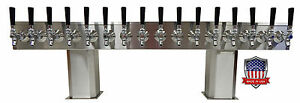 Stainless Steel Draft Beer Tower Made In Usa 18 Faucet Air Cooled Ptb 18ss op